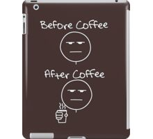 Before & After Coffee iPad Case/Skin