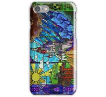 Beauty and the Beast-- stained glass castle (sideways) iPhone Case/Skin