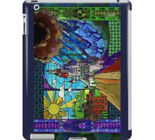 Beauty and the Beast-- stained glass castle (sideways) iPad Case/Skin
