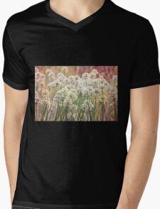 White Mens V-Neck T-Shirt