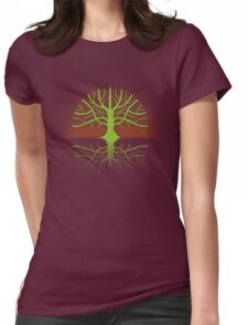 Tree T Womens Fitted T-Shirt