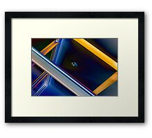 Office Azure Framed Print