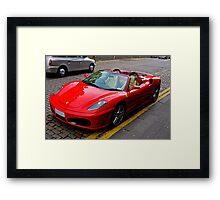 Ferrari drivers can park where they like Framed Print