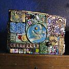 Gifting: mosaic bird on cigar box by izzybeth