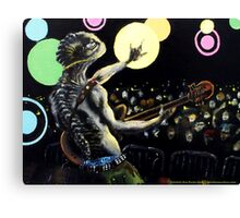 Trilobite Boy Rocks Out Canvas Print