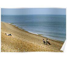 Shingle beach near Folkestone, England. Poster