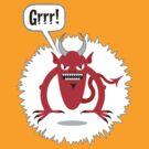 Noisy Little Terrors - 'Grrr!' cartoon character T-shirt by one-in-the-eye