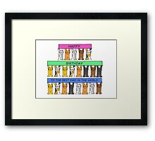 Happy Birthday Best Dad in the world. Framed Print