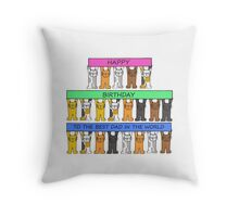 Happy Birthday Best Dad in the world. Throw Pillow
