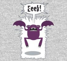 Noisy Little Terrors - 'Eeek!' cartoon character T-shirt One Piece - Long Sleeve
