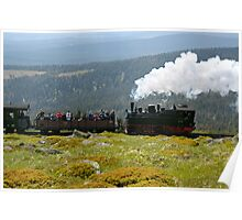 "Train climbing the ""Brocken"" in former East Germany. Poster"