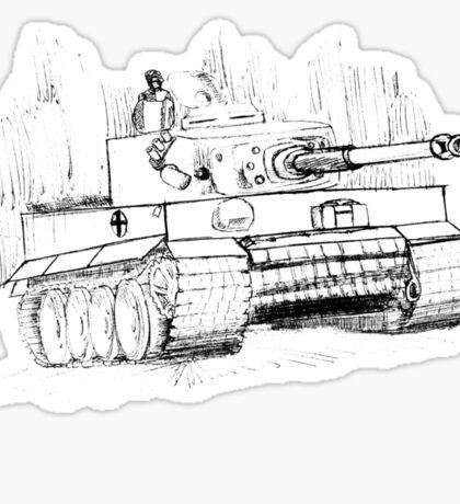 Tiger Tank Sticker