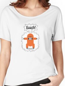 Noisy Little Terrors - 'Arrgh!' cartoon character T-shirt Women's Relaxed Fit T-Shirt