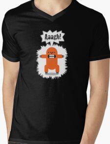 Noisy Little Terrors - 'Arrgh!' cartoon character T-shirt Mens V-Neck T-Shirt