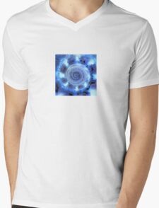 Blue Shell Mens V-Neck T-Shirt