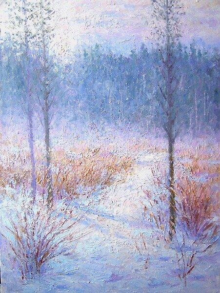 Winter morning fog by Julia Lesnichy