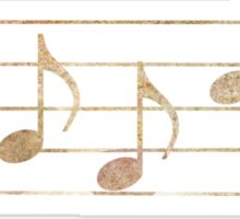 BASS Words in Music - Earthy Granite - a V-Note Creation Sticker
