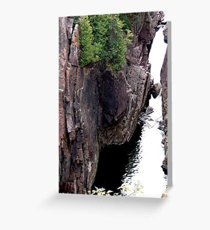Aguasabon River Gorge  Greeting Card