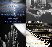 Alec Lightwood and Jace Herondale - Parabatai by joliverhouse