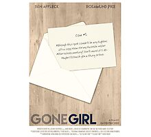 Gone Girl film poster Photographic Print