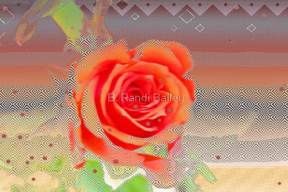 Peachy and creamy rose design by ♥⊱ B. Randi Bailey
