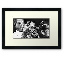 Portrait of Louie Armstrong Framed Print