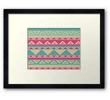 Cool fun triangle pattern  Framed Print
