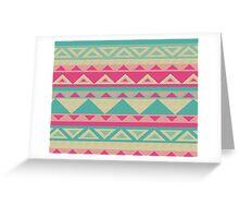 Cool fun triangle pattern  Greeting Card