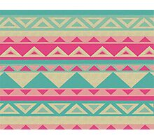 Cool fun triangle pattern  Photographic Print