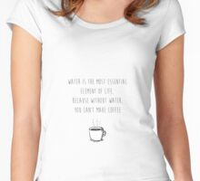 Water for Coffee Women's Fitted Scoop T-Shirt