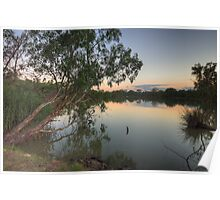 Last Light - Murray River, NSW Australia - The HDR Experience Poster