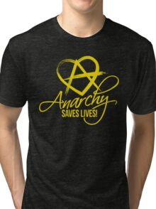 Anarchy Saves Lives Tri-blend T-Shirt