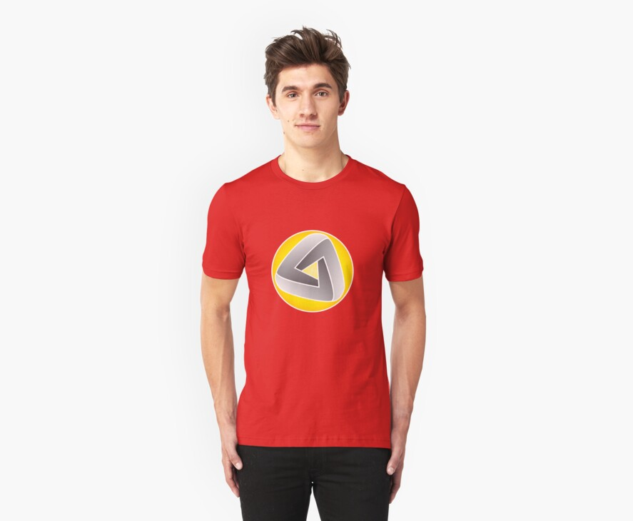 Curvy Mobius Triangle T-shirt by one-in-the-eye