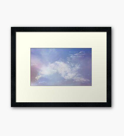 Daydreaming in haiku Framed Print