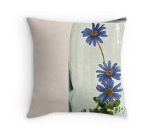 flowers in a jar Throw Pillow