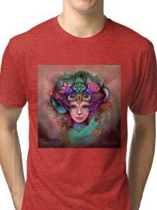"Psychedelic Artwork Prints - Digital Visionary Art - ""Blossoming Mind"" Tri-blend T-Shirt"