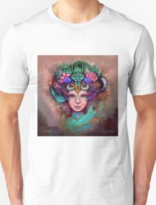 "Psychedelic Artwork Prints - Digital Visionary Art - ""Blossoming Mind"" Unisex T-Shirt"