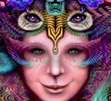 "Psychedelic Artwork Prints - Digital Visionary Art - ""Blossoming Mind"" Sticker"