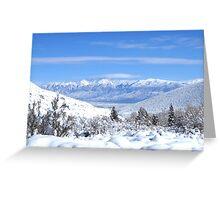 High Sierra Winter View Greeting Card