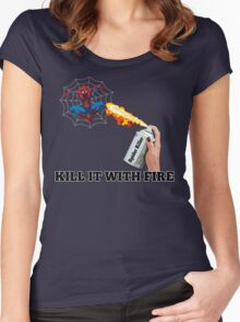 Kill it with Fire! Women's Fitted Scoop T-Shirt