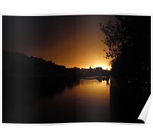 Sunset Over the River Liffey Poster