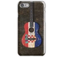 Aged and Worn Croatian Acoustic Guitar iPhone Case/Skin