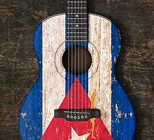 Aged and Worn Cuban Acoustic Guitar by Jeff Bartels