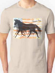 Forever Free - Patriotic Horse T-Shirt