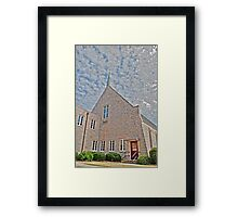 HDR - SSLC - Church and Sky Framed Print