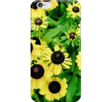 Yellow and Black Flowers  iPhone Case/Skin