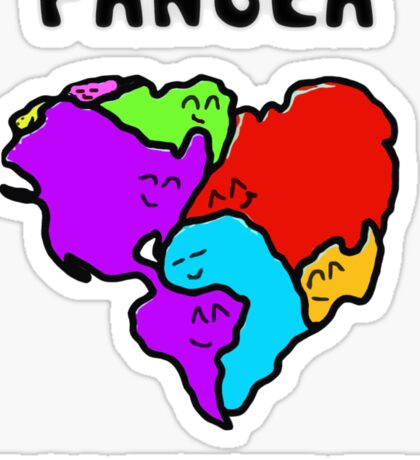 Pangea- the happy continent  Sticker