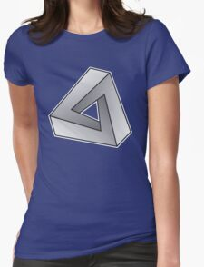Mobius Triangle (Angular) Womens Fitted T-Shirt