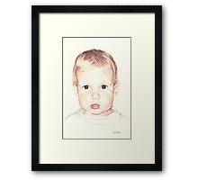 When He was Two Framed Print