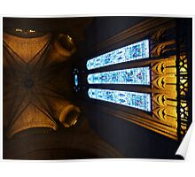 Tower and window, Liverpool Anglican Cathedral. Poster